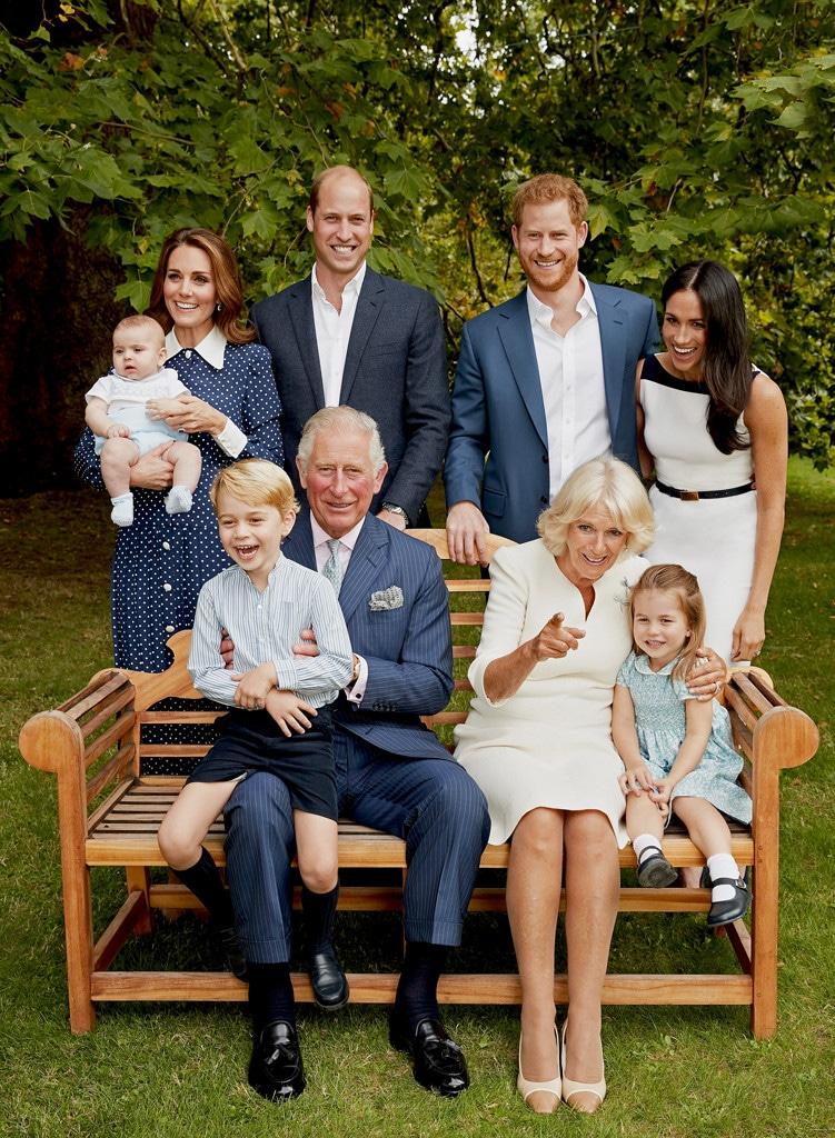Prince Charles, Camilla, Prince Willliam, Kate Middleton, Prince George, Princess Charlotte, Prince Louis, Prince Harry, Meghan Markle