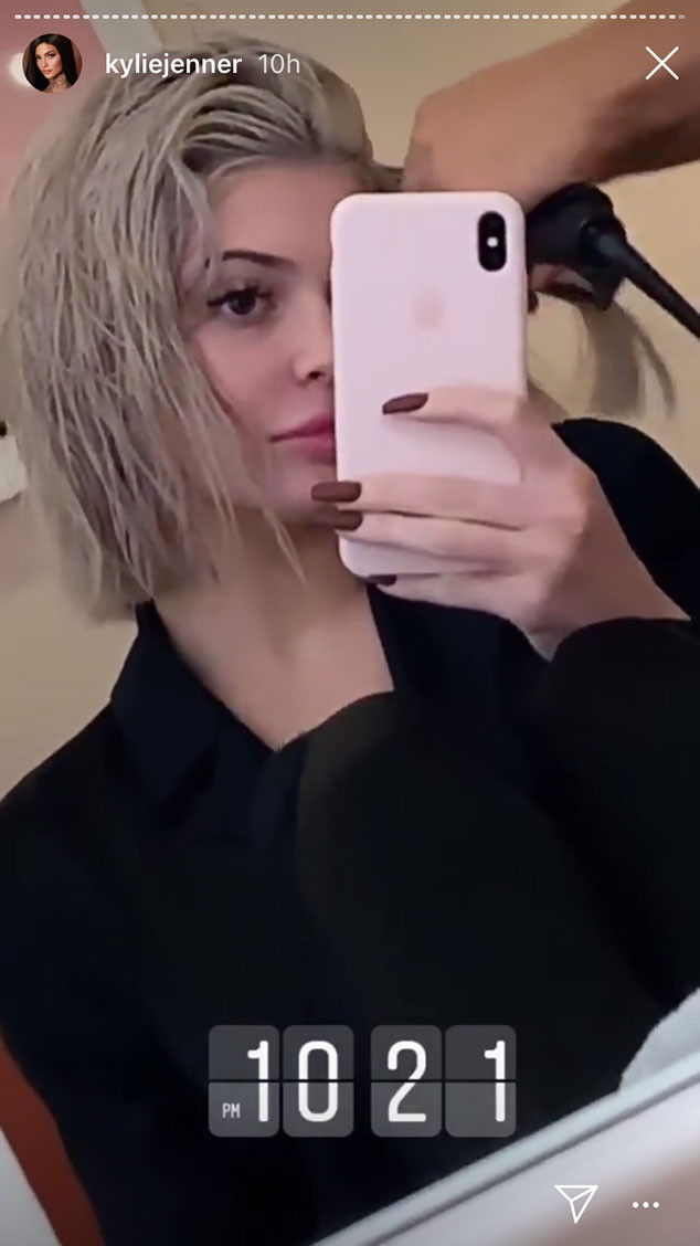 Kylie Jenner, Hair, Silver Blond