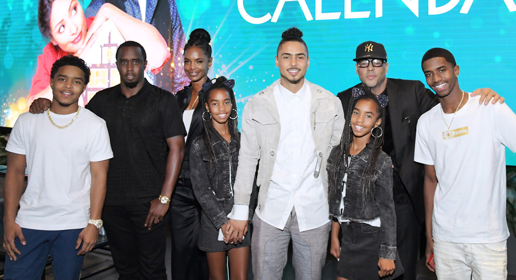 Justin Dior Combs, Sean 'Diddy' Combs, Kim Porter, D'Lila Star Combs, Jessie James Combs, Quincy Brown, Al B. Sure!, Christian Casey