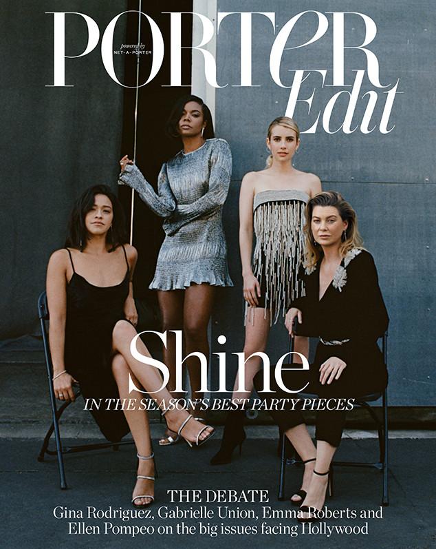 Gabrielle Union, Ellen Pompeo, Gina Rodriguez, Emma Roberts, PorterEdit