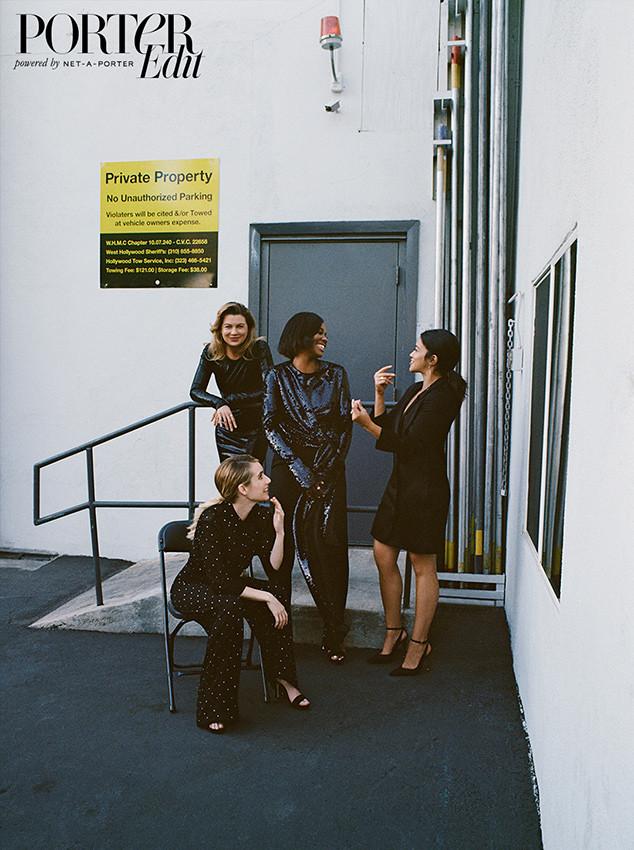 Ellen Pompeo, Gabrielle Union, Gina Rodriguez, Emma Roberts, PorterEdit
