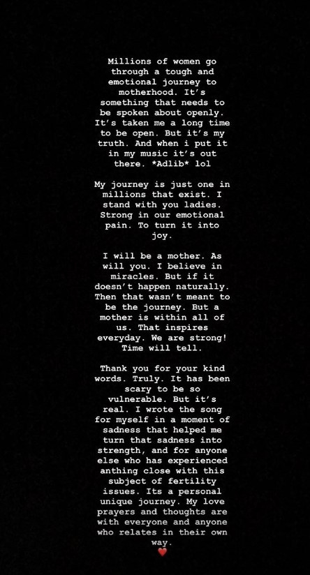Jessie J, Infertility, Instagram