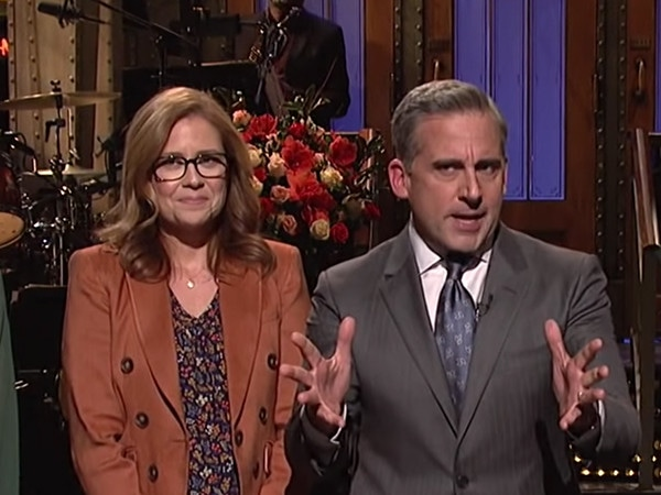 Steve Carell Has an <i>Office</i> Reunion on <i>SNL</i> and Is Asked About a Reboot