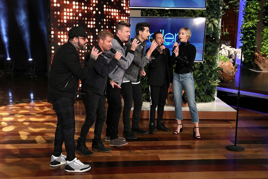 Emily Blunt Joins Backstreet Boys For An Impromptu 'Ellen' Duet
