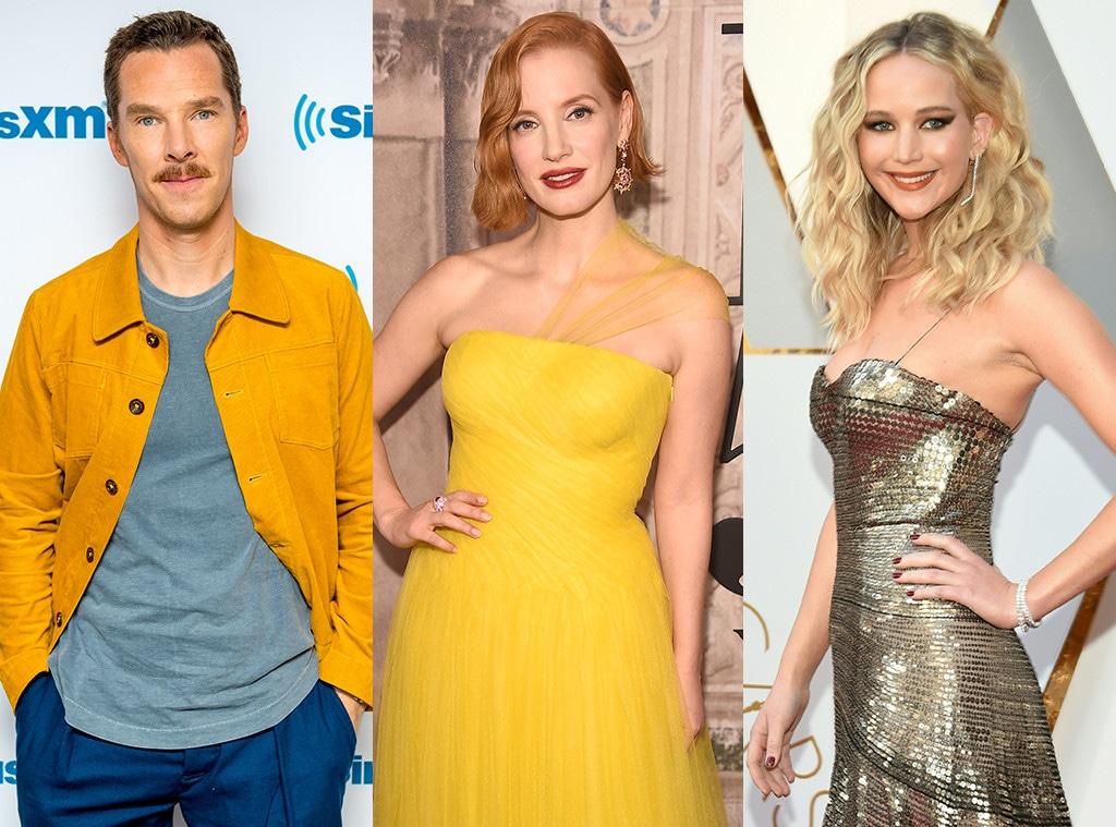 Benedict Cumberbatch, Jessica Chastain, Jennifer Lawrence