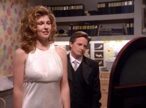 Connie Britton, Michael J. Fox, Spin City