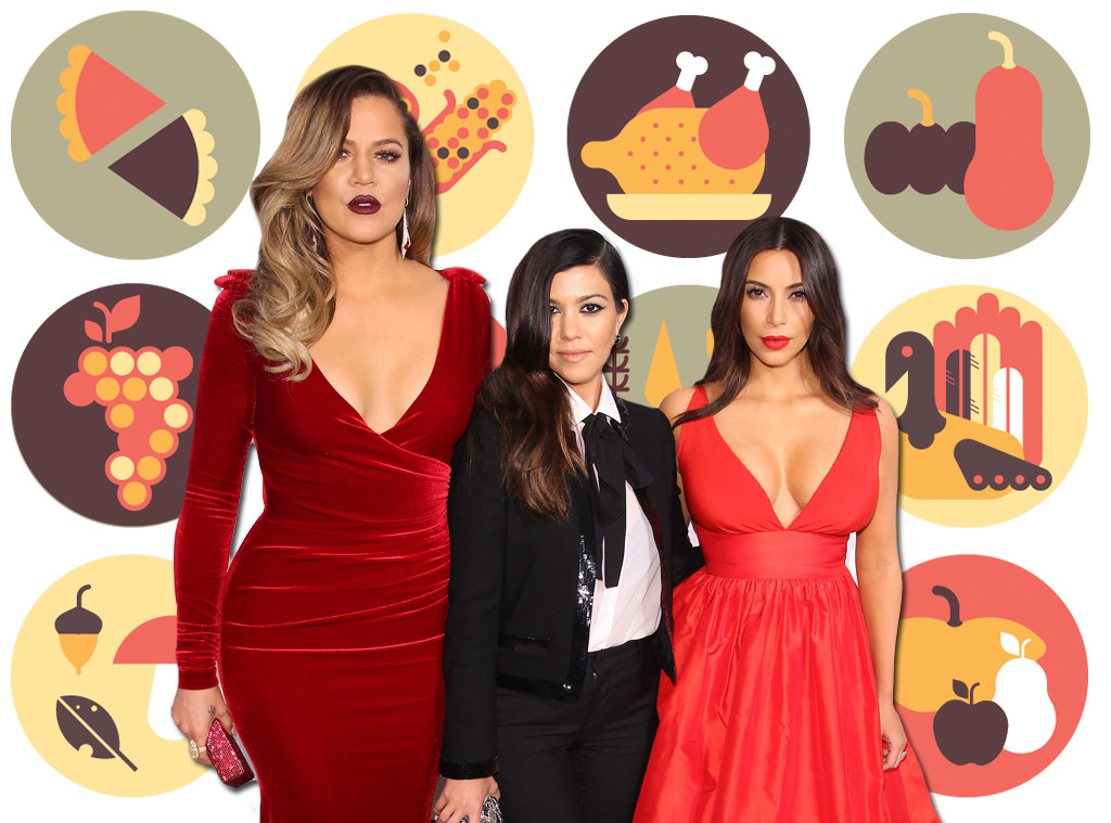 Kourtney Kardashian, Kim Kardashian, Khloe Kardashian, Thanksgiving