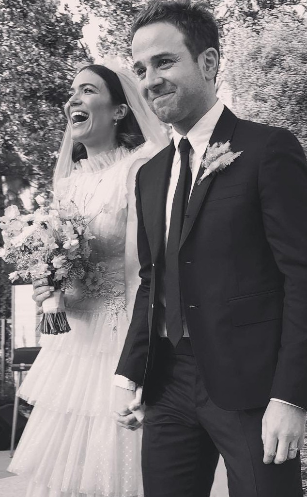 Mandy Moore -  In November, the  This Is Us  star married Taylor Goldsmith in a  pink Rodarte dress .