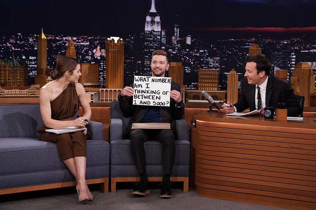 Jessica Biel, Justin Timberlake, The Tonight Show Starring Jimmy Fallon