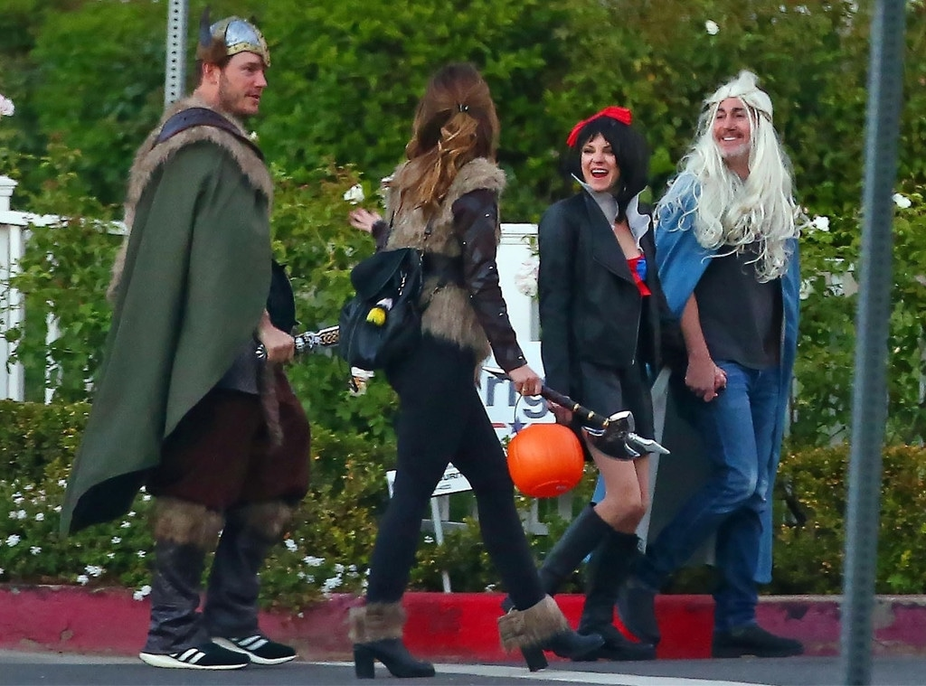 Chris Pratt, Anna Faris, Katherine Shwarzenegger, Micheal Bennett, Halloween