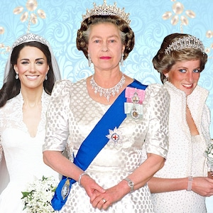 Royal Tiaras, Meghan Markle, Kate Middleton, Princess Diana, Queen Elizabeth II