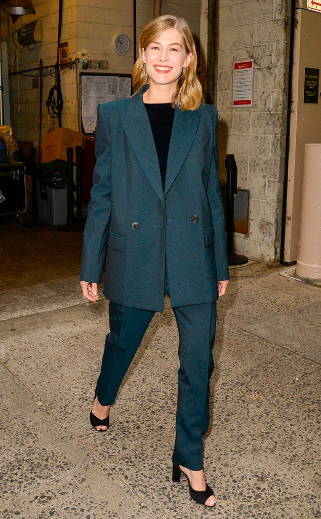 Rosamund Pike -  Suits up!