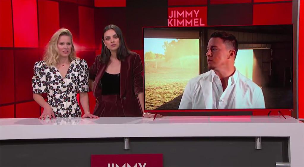 Kristen Bell, Mila Kunis, Channing Tatum, Jimmy Kimmel Live