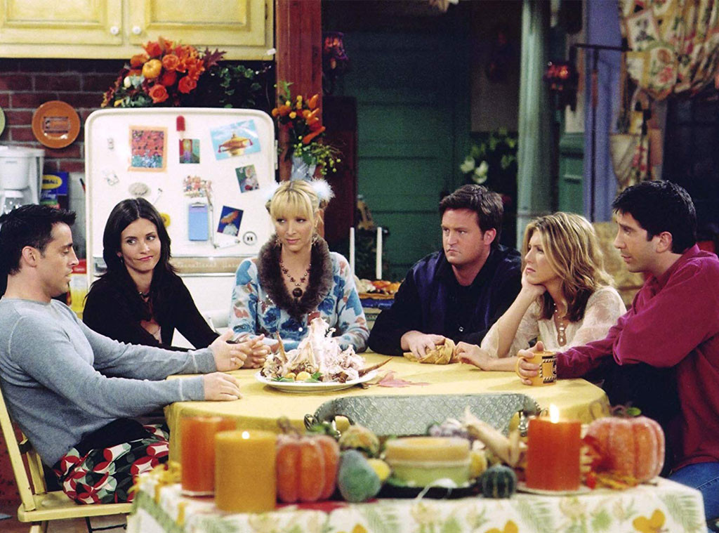Friends, Thanksgiving, Courtney Cox, Jennifer Aniston, Lisa Kudrow, Matthew Perry, Matt LeBlanc, David Schwimmer