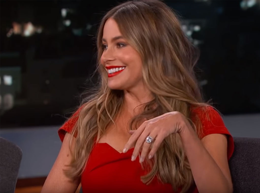 Sofia Vergara, engagement ring, Jimmy Kimmel Live 2015