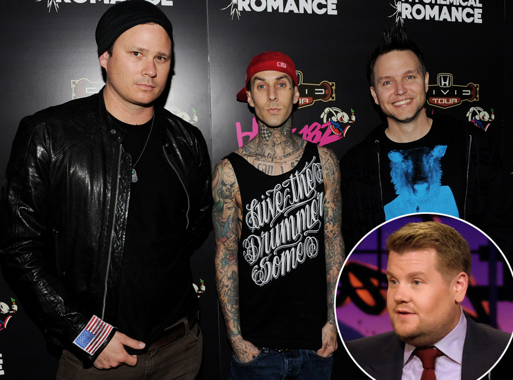 Blink 182, James Corden