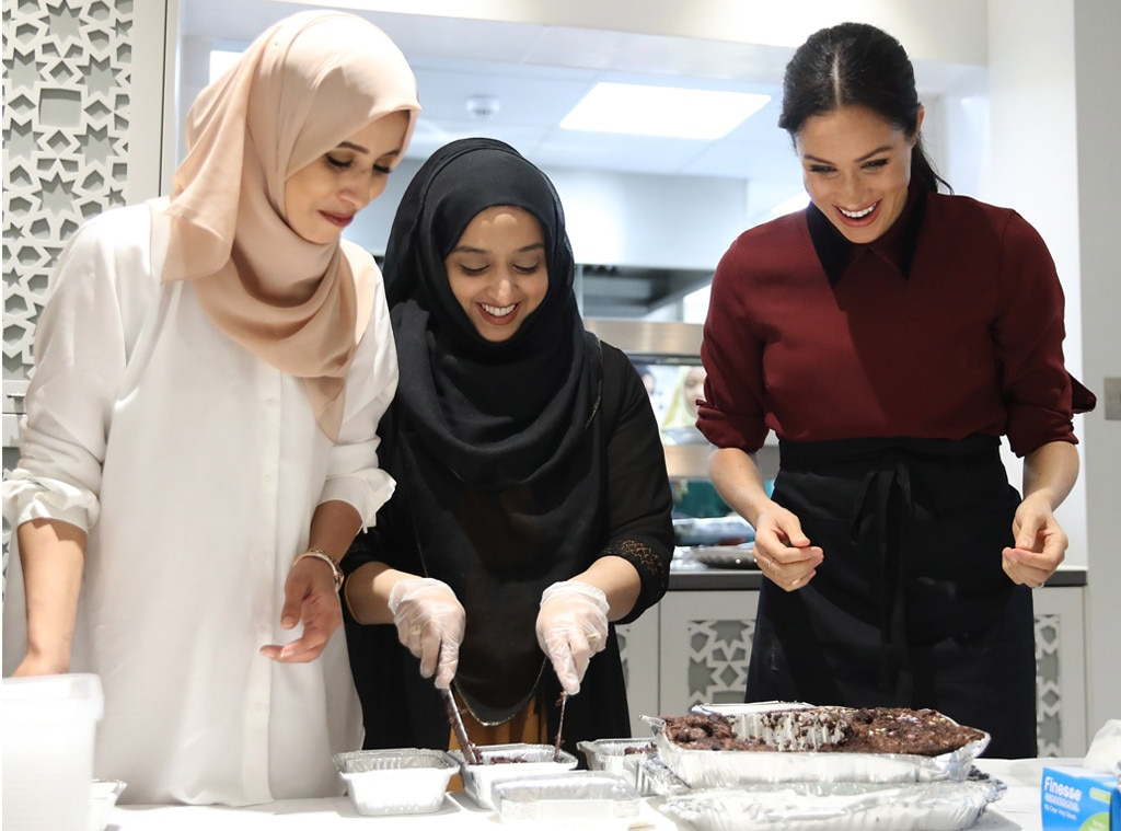 Meghan Markle reunited with women who wrote Grenfell charity cookbook