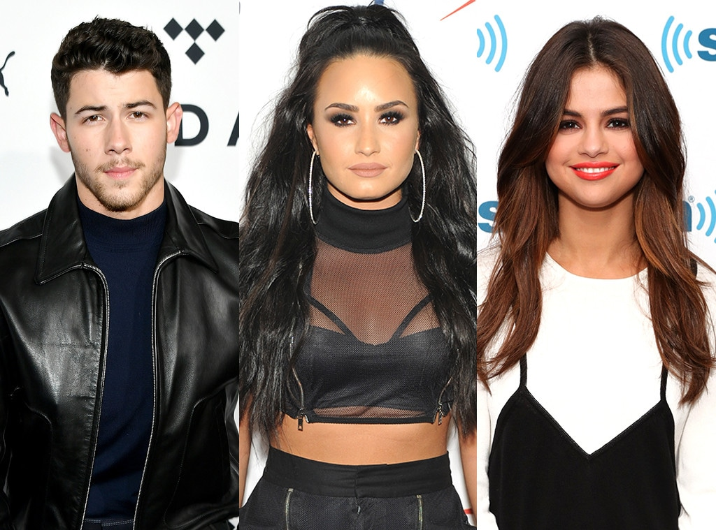 Nick Jonas, Demi Lovato, Selena Gomez