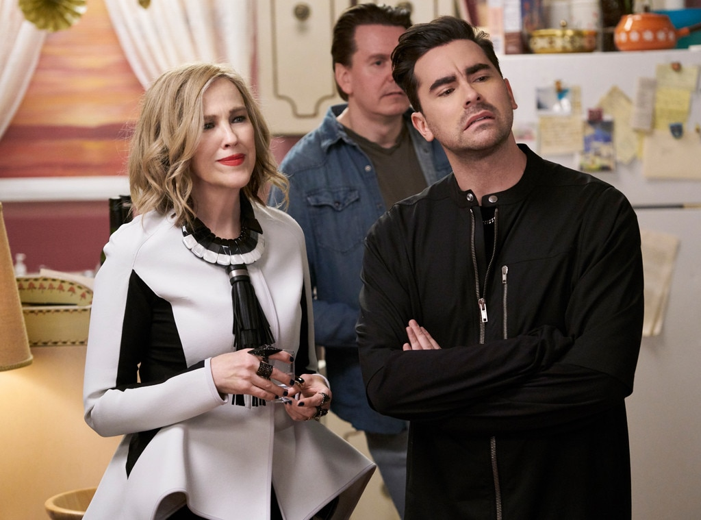 For the person in need of joy... - Schitt's Creek , which airs on Pop here in the US, is the perfect show to put a smile on just about anybody's face. The first four seasons of this comedy, which was created by father-son duo  Eugene Levy  and  Dan Levy , are streaming on Netflix and feature  Catherine O'Hara  at her best.
