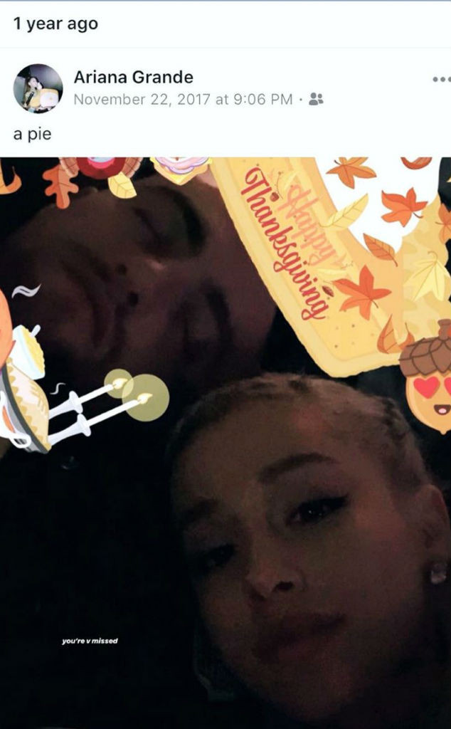 1105639d36900 Ariana Grande Pays Tribute to Mac Miller With Throwback Thanksgiving ...