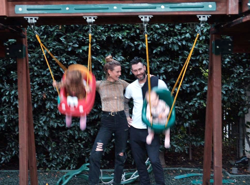Behati Prinsloo, Adam Levine, Thanksgiving 2018
