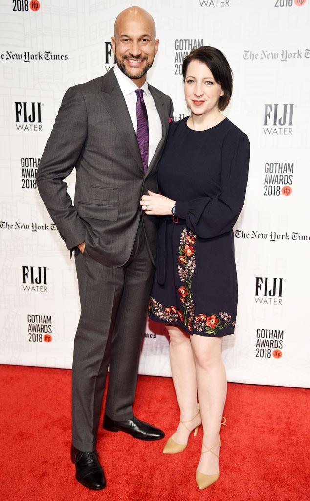 Keegan Michael-Key, Elisa Pugliese, 2018 Gotham Awards