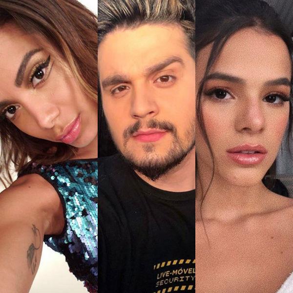 Anitta, Luan Santana, Bruna Marquezine