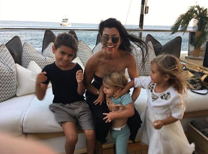 Kourtney Kardashian, Mason Disick, Penelope Disick, Reign Disick, The Family