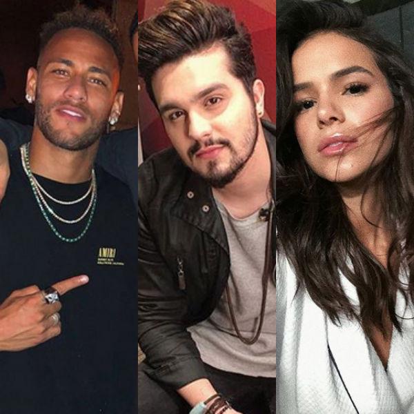 Neymar, Luan Santana, Bruna Marquezine