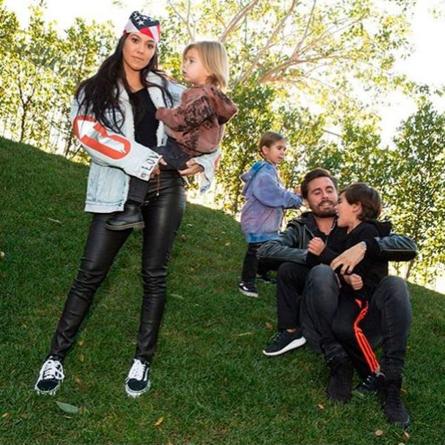 Kourtney Kardashian, Scott Disick, Mason Disick, Penelope Disick, Reign Disick, The Family
