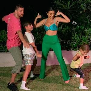 Kourtney Kardashian, Scott Disick, Mason Disick, Reign Disick, Family