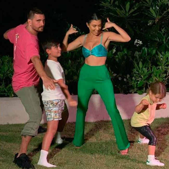Kourtney Kardashian, Scott Disick, Mason Disick, Reign Disick, The Family