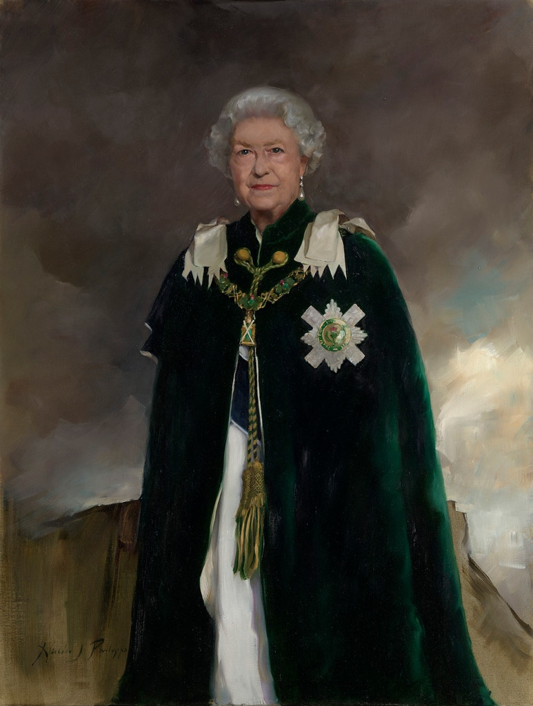 Queen Elizabeth II, by artist Nicky Philipps, 2018