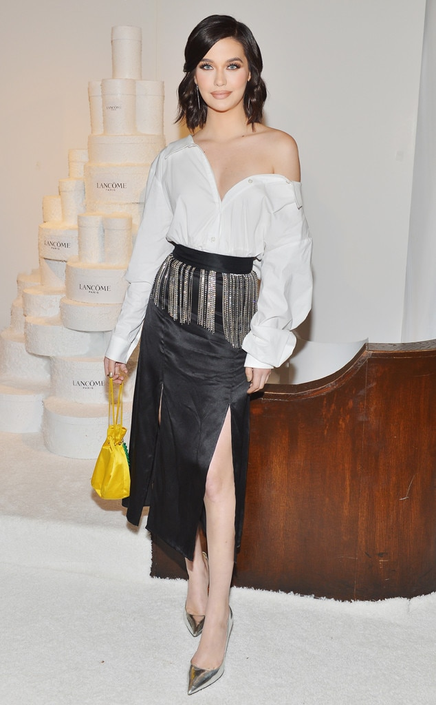 Amanda Steele -  The vlogger gives workwear a sultry twist at theLancôme x Vogue Holiday Event.