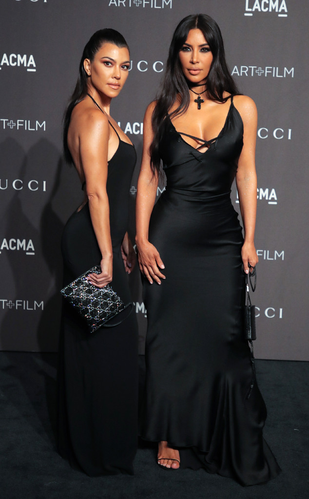 LACMA: Art and Film Gala, Kim Kardashian, Kourtney Kardashian