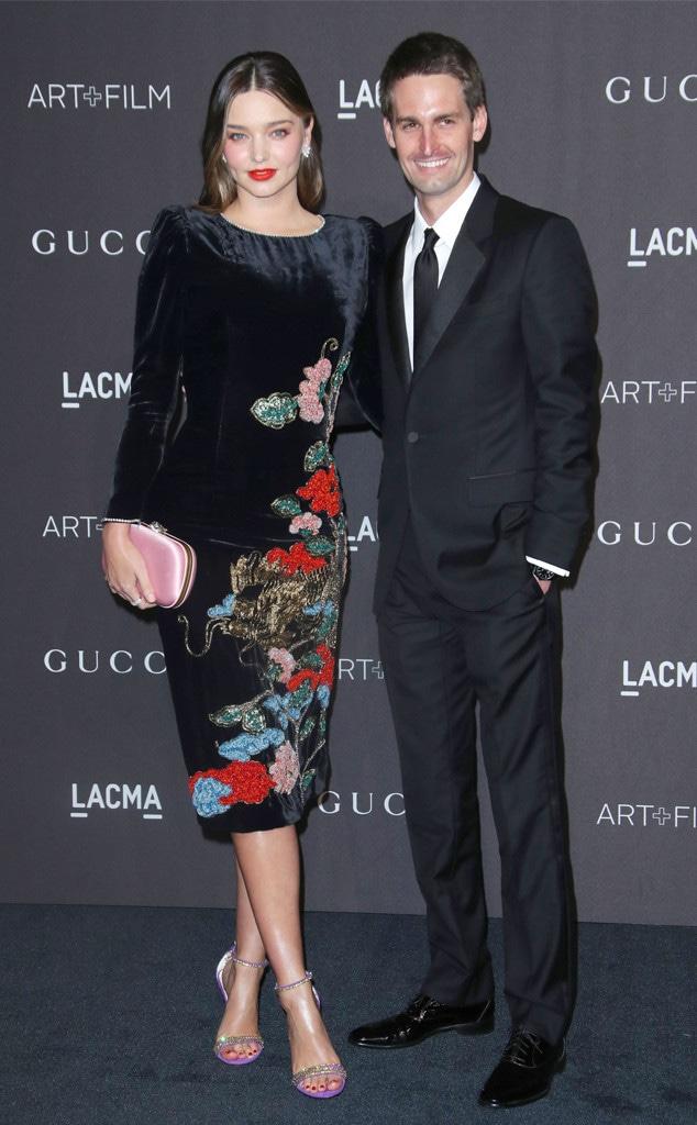 LACMA: Art and Film Gala, Evan Spiegel, Miranda Kerr