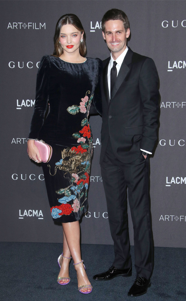 LACMA: Art and Film Gala, Evan Spiegel, Miranda Kerr