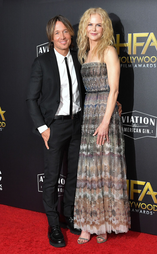 Keith Urban, Nicole Kidman, 2018 Hollywood Film Awards