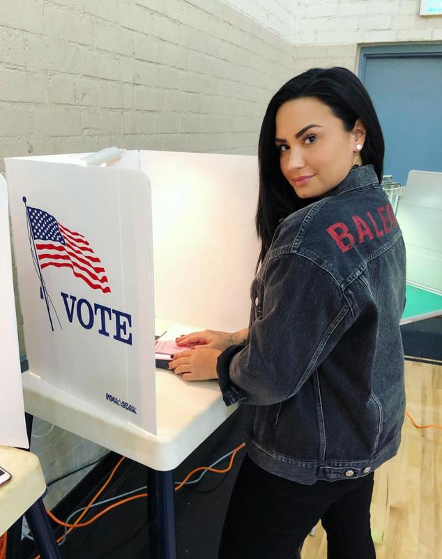 Celebs Voting, Vote, Instagram, Demi Lovato