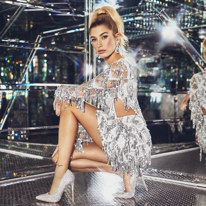 67fa285f 12 Holiday Party Must Haves From Hailey Baldwin's PrettyLittleThing Collab  | E! News UK
