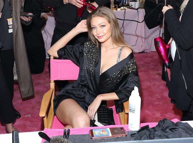 Gigi Hadid, 2018 Victoria's Secret Fashion Show, Backstage
