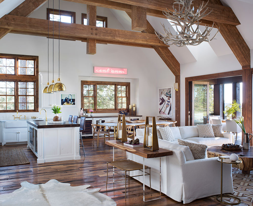 wonderful giuliana bill living room | Tour Giuliana Rancic and Bill Rancic's Idaho Vacation Home ...