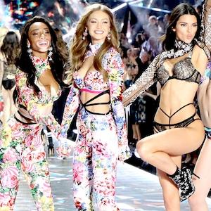 Winnie Harlow, Gigi Hadid, Kendall Jenner, 2018 Victoria's Secret Fashion Show, Runway
