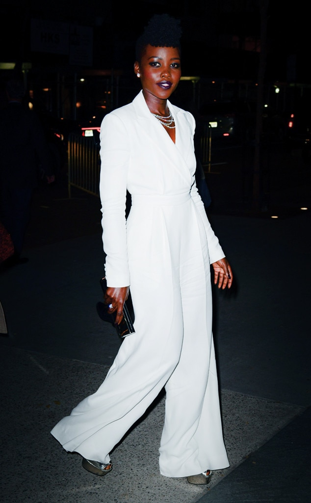 Lupita Nyong'o -  Lupita stunned in a bright white suit with layers of diamond accessories, silver platform heels and a black clutch for the 2018 WSJ Magazine Innovator Awards.