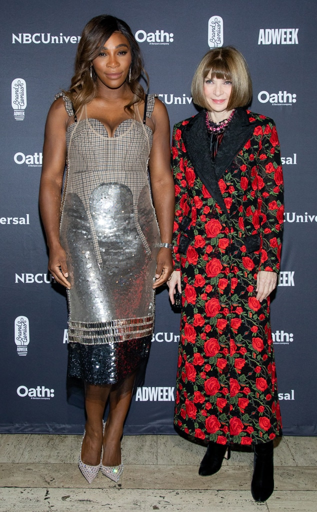 2018 Brand Genius Awards -  2018 Brand Visionary  Serena Williams  and  Anna Wintour arrive to theawards show presented by NBCUniversal and Oathat Cipriani 25 Broadway.