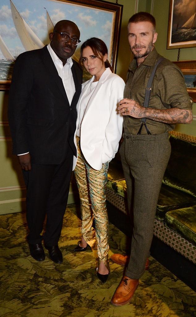 Victoria Beckham, David Beckham, Edward Enninful