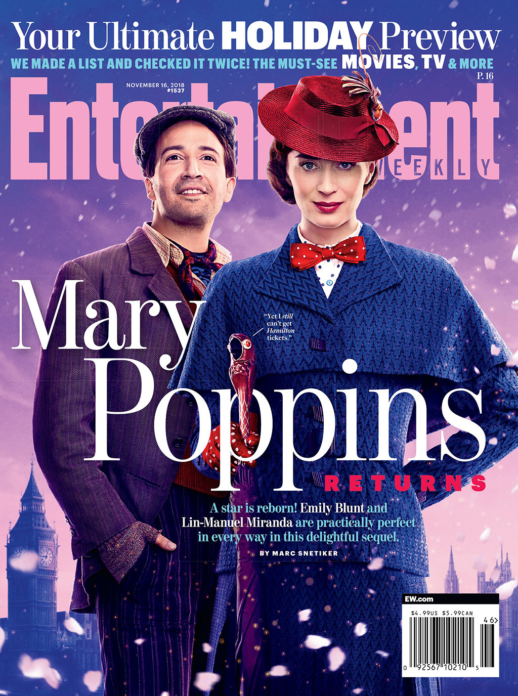 Mary Poppins Returns, Entertainment Weekly