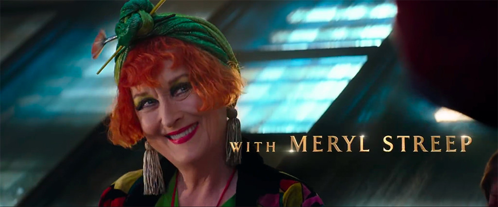 Meryl Streep as Topsy in Marry Poppins Returns