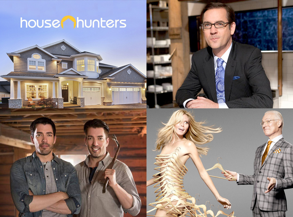 Reality Shows, House Hunters, Chopped, Property Brothers, and Project Runway