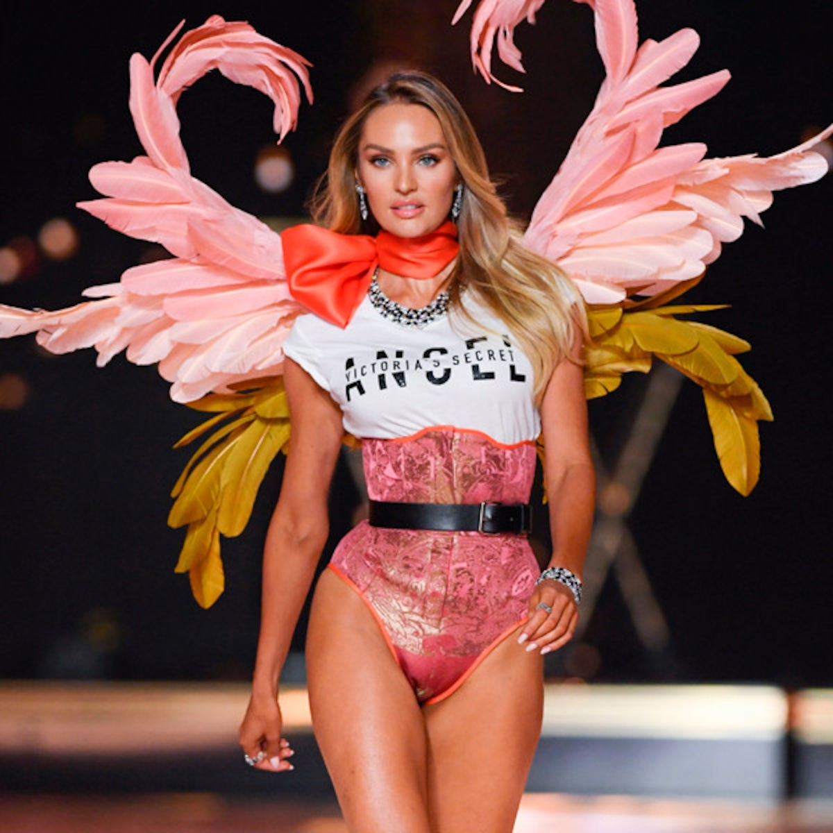 Image result for Candice Swanepoel walks the runway during the 2018 Victoria's Secret Fashion Show.